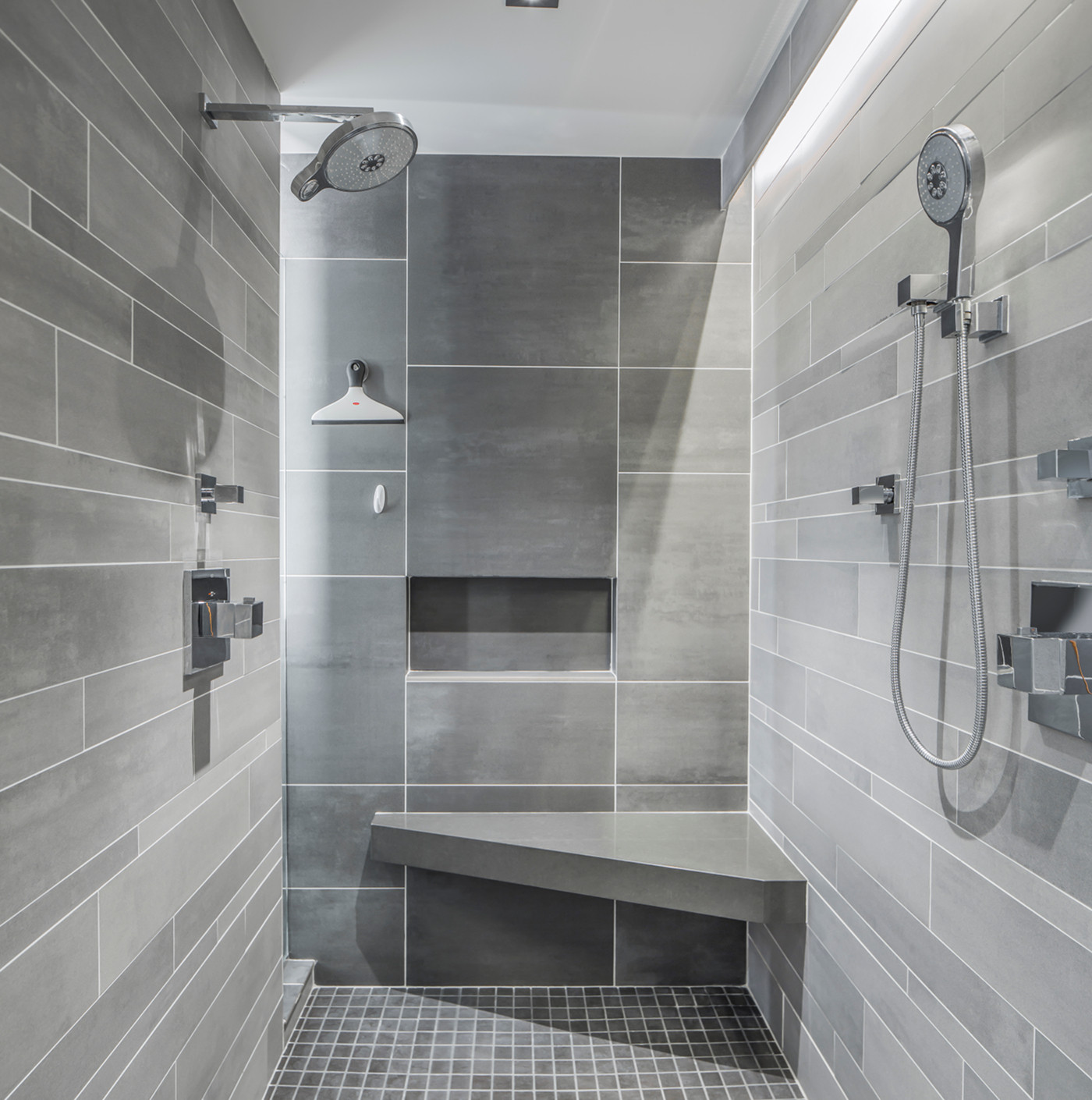 modern hybrid IKEA kitchen in Bernardsville, NJ shower for 2