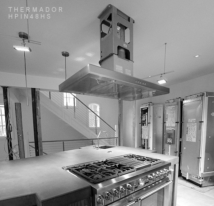 Thermador kitchen island exhaust hood