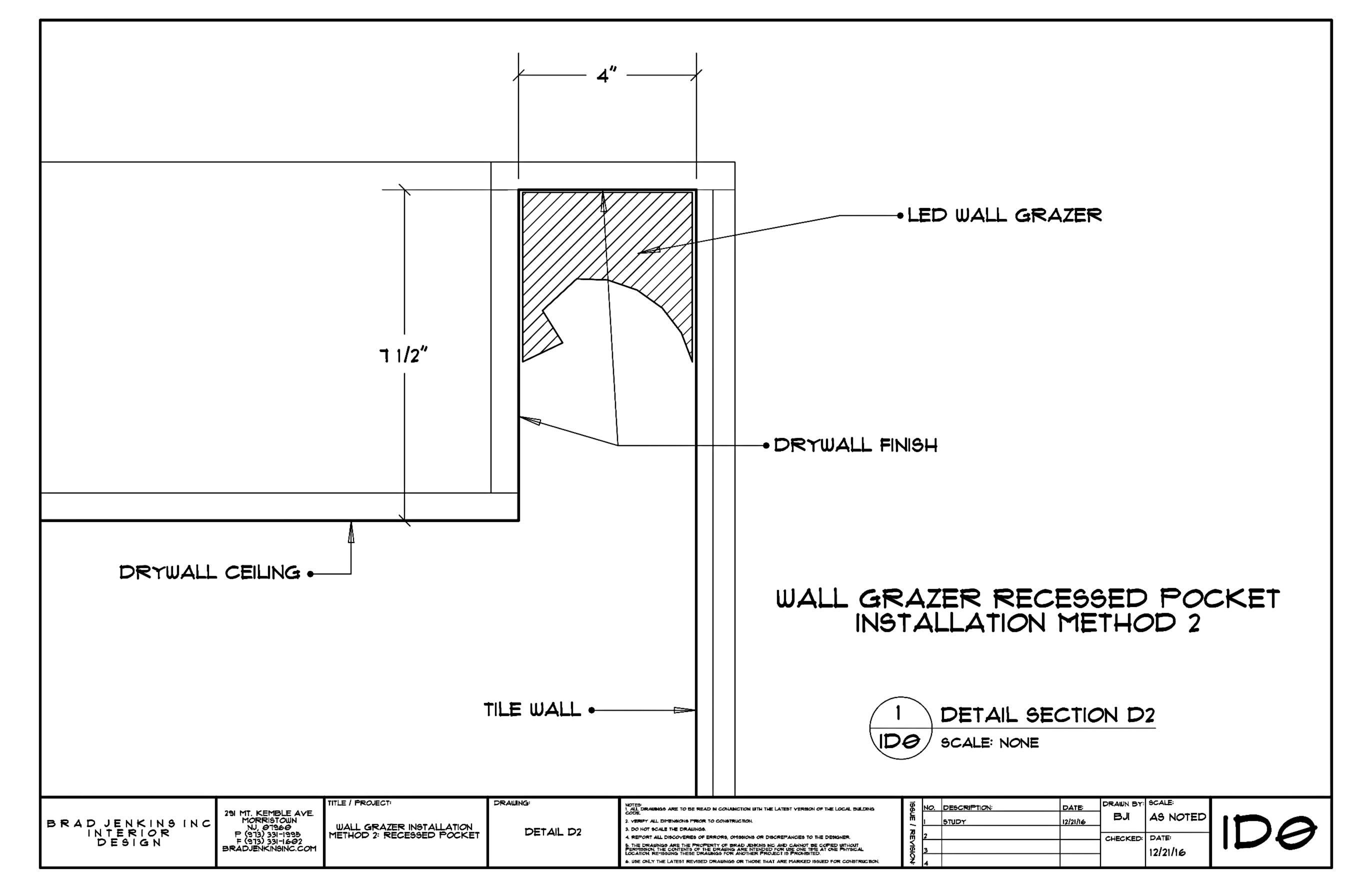 wall grazing light fixture installation method 2 recessed pocket