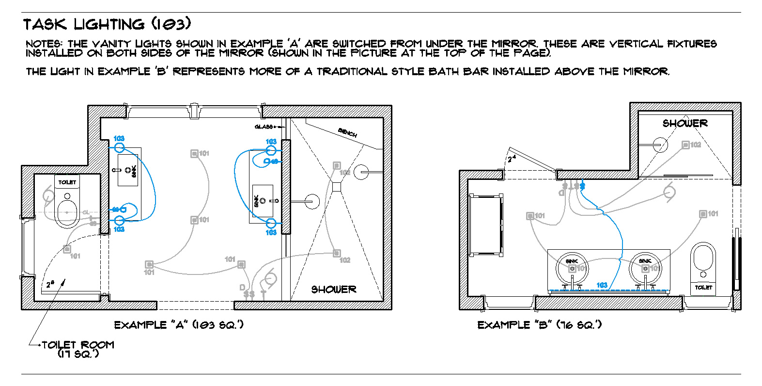 Bathroom Lighting Diagram Great Installation Of Wiring Room Diagrams By The Full Bath Brad Jenkins Inc Rh Bradjenkinsinc Com Electrical